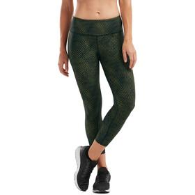 2XU Print Mid-Rise Compression 7/8 Tights Women, reserve mesh olive/black